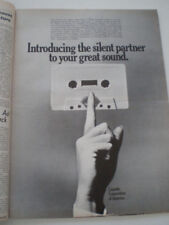 1970 CASETTE CORPORATION DE AMERICA Publicité 28X38cm PANNEAU D'AFFICHAGE PAGE