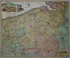 Flandriae comitatus - Flandern in Belgien -Sehr seltene Karte von Visscher -1680