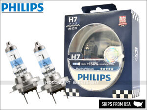NEW! H7 PHILIPS +150% RacingVision Halogen Bulb 12972RVS2 (Pack of 2)