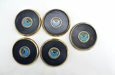5 Vintage NOAA National Oceanic & Atmospheric Administration Brass Cup Coasters