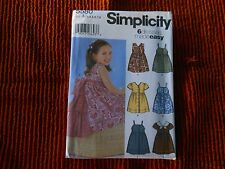 UNCUT Simplicity Sewing Pattern Girls Dress 6 Styles Easy Variations 5580 3 - 8