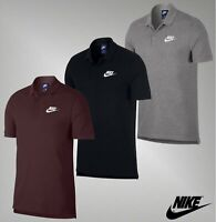Mens Nike Cotton Short Sleeves Side Splits Top Match Up Polo Shirt Sizes S-XXL