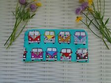 CAMPERVAN DESIGN MAKE UP BAG OR PENCIL CASE BRIGHT RETRO FUN GIFT IDEA HAND MADE