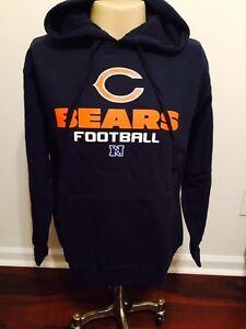 CHICAGO BEARS Sweatshirt Hoodie Adult Medium Navy Blue New with Tags (M) NFL