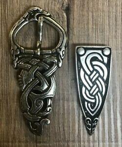 Schnallenset Viking Midgard Pour 3cm - Argent Vieilli