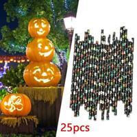 25Pcs Halloween Decors Disposable Drink Paper Straws Biodegradable Durable 197mm