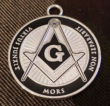 MASONIC COLLAR SILVER DOUBLE SIDED Coin JEWEL
