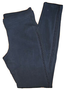 Express • Womens Black Leggings Open Stich Sides • Small