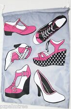 Travel Shoe Bag Girls Ladies Gym PE Dance Ballet School Swimming Kit Holiday