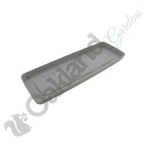 46cm Stone Grey Boston Watering Tray Coloured Pot Drip Tray saucer Windowsill
