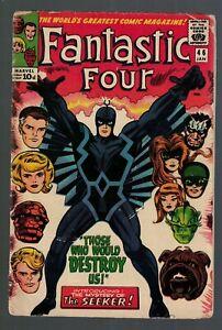 Marvel comics Fantastic four 46 1st Appearance Black Bolt Inhumans 4.0 VG