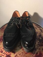 English leather shoes D ring creepers authentic UK 12