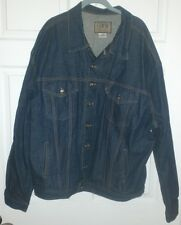 ERWIN Jeans Denim Trucker Jacket Made in ISRAEL Blue Mens 2XL Button Front Rare