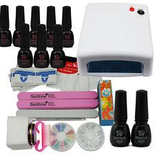 8 Colors Coscelia UV Gel Nail Polish Starter Kit Manicure Tools 36W UV Lamp
