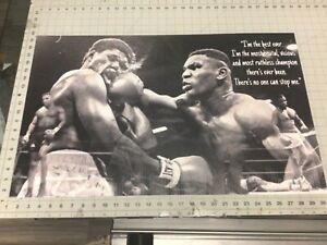 32x18apx MIKE TYSON Vinyl Banner POSTER Joe Frazier Muhammad Ali GGG  Rocky art