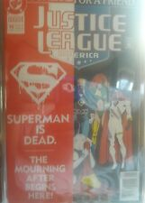 JUSTICE LEAGUE OF AMERICA  #70 SUPERMAN IS DEAD A  FUNERAL  FOR FRIEND VF/NM  DC