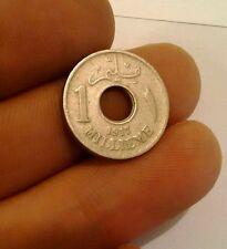 Egipto 1917 H 1 Millieme AH1335 uno malimat Hussein Kamil km 313 moneda de Medio Oriente