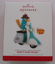 Hallmark 2013 Disney Phineas and Ferb Perry Platypus Agent P Christmas Ornament