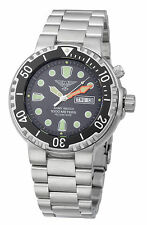 DIVER ARMY WATCH BLACK HELIUM SAFE 1000 METERS SEIKO MOVEMENT SAPHIRE GLASS