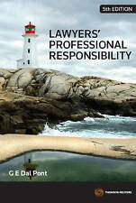 Lawyers' Professional Responsibility by Gino Dal Pont (Paperback, 2012)