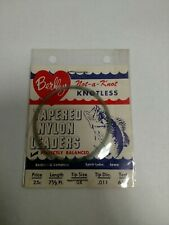 RARE Vintage Berkley Not-a-Knot Knotless Tapered Nylon Leader 6 Lb 1 pack.