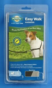 PetSafe Easy Walk Harness for Dogs Size Small Black Silver No Pull Nylon Sheltie