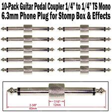 10-Pack Guitar Pedal Coupler 1/4 Male Plug Effect Stomp Box 6.3 Audio Phone