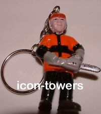 STIHL Power Tools Merchandise | Lumberjack with Chainsaw figure KEYRING Key Ring