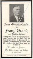 STERBEBILD   AVIS DE  DECES  SOLDAT  ALLEMAND    1940    ( 121 )