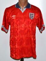 ENGLAND NATIONAL TEAM 1990/1993 AWAY FOOTBALL SHIRT JERSEY UMBRO SIZE S ADULT