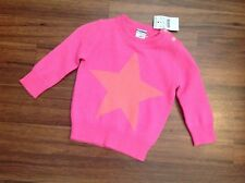J Crew Crewcuts Girls baby Cashmere sweater in Star 6 Months BRIGHT PINK NWT
