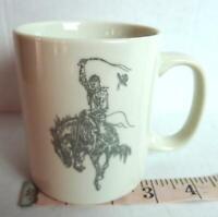 Bronc Busting Cowboy Cinching Coffee Mug