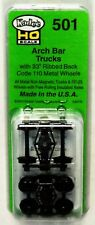 HO Scale Kadee #501 Arch Bar Trucks (1) pr
