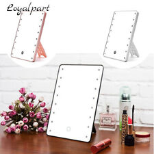 US Personal Touch Screen Makeup Mirror LED Light Kit Rotatable Make Up Mirror