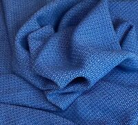 Knoll Textiles Dapper Songbird Blue Chunky Textured Wool Upholstery Fabric BTY