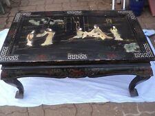 Table basse pliable chinoise fin XIX eme , décor incruste,pierres précieuses