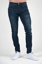 ETO Mens DESIGNER Jeans SKINNY Super Stretch Reflex Classy 5 Washes Denim Pants Regular Mid Stonewash 40 In.