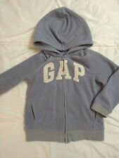 GAP boy's size 4T fleece hooded sweatshirt blue zip up
