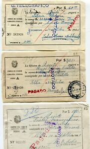 Ecuador 15 used money orders - see scans