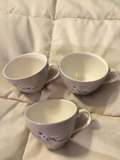 3 VINTAGE ENGLAND ROYAL DOULTON PURPLE FROST PINE FINE CHINA MINI TEA CUPS LOT