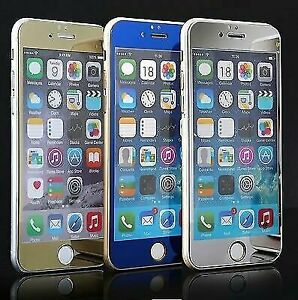 Mirror Effect Color HD Tempered Glass Screen Protector For iPhone 6  6 Plus