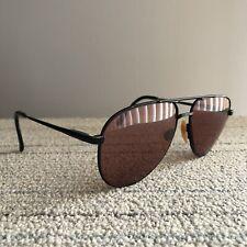3718fde9f32 Vintage Nikon Aviator Black Eye Glasses Eyeglasses Frames Japan 61-16