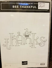 """""""Bee Thankful"""" Stampin' Up! Unmounted Rubber Stamp Set of 1 - New!"""