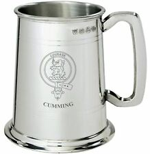 Cumming Clan Crest Tankard 1 Pint Pewter