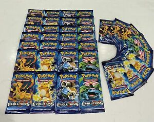 Pokemon TCG XY Evolutions Booster Packs Lot of 10 Factory Sealed NEW UNWEIGHED!