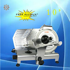 320W Electric Stainless Steel Meat Slicer 10'' 25cm Blade Cutter Commercial