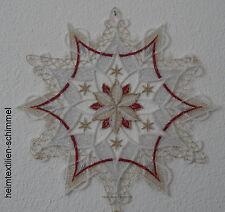 Plauen Lace ® Window Picture Christmas Star Decoration Winter Window Decoration