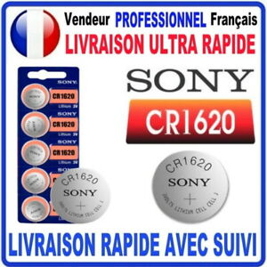 Pile CR1620 Lithium 3V SONY Pile bouton QUALITÉ PREMIUM SONY