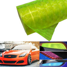 Fluorescent Yellow 3D Car Taillight Fog Head Light Headlight Tint Film Wrap