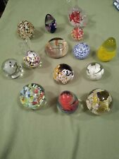 Lot glass paperweights